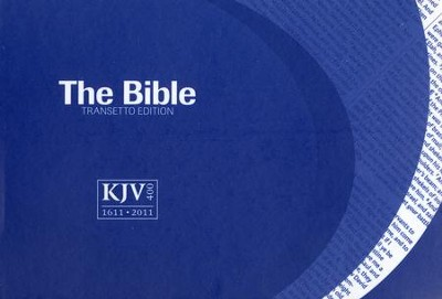 KJV Transetto Text Bible, Softcover, purple  -