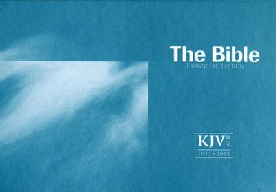 KJV Transetto Text Bible, Softcover, blue  -