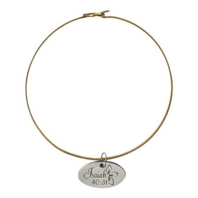 Isaiah 40:31 Bangle Bracelet, Bronze and Antique Silver  -