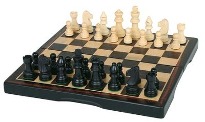 Chess Set, Ebony Wood  -