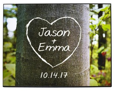 Personalized, Plaque with Tree and Heart, Large   -