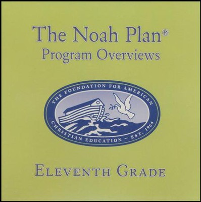 The Noah Plan Overviews: 11th Grade CD   -