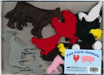 Abeka Felt Farm Animals (K4-2; 72 pieces)   -