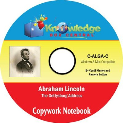Abraham Lincoln Gettysburg Address Copywork Notebook: With Vocabulary Extensions PDF CD-ROM  -     By: Cyndi Kinney, Pamela Sutton
