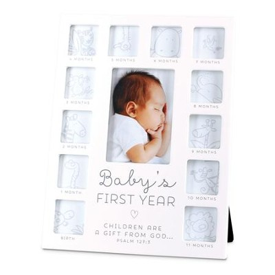 Baby's First Year, Photo Frame, White  -