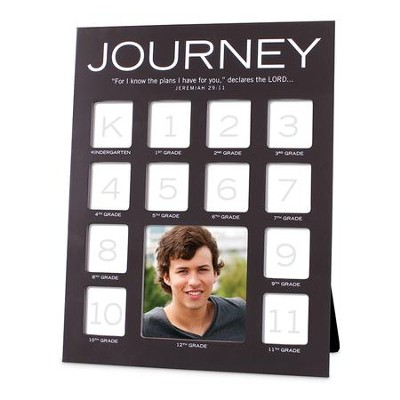 Journey Through The Years Photo Frame Black