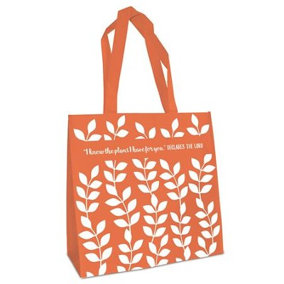 I Know the Plans, Eco Tote Bag, Orange  -