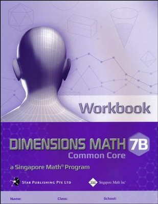 Dimensions Math CC Workbook 7B   -