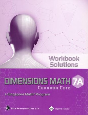 Dimensions Math Workbook Solutions 7A   -