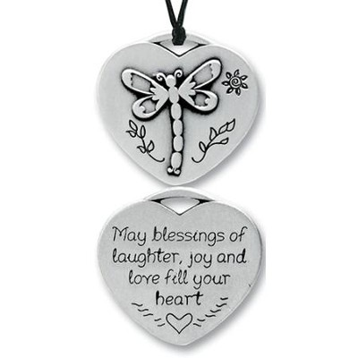 May Blessings Fill Your Heart, Pocket Pendant  -
