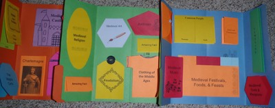 Middle Ages Lapbook (Assembled)  -     By: Cyndi Kinney