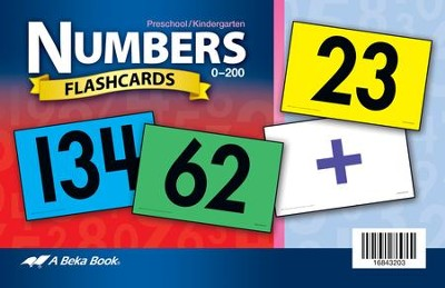 Abeka K5 Numbers Flashcards (104 cards)   -