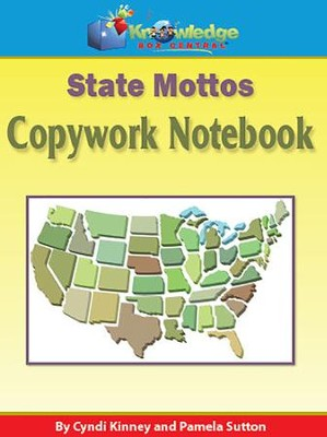 State Mottos Copywork Notebook (Printed Edition)  -     By: Cyndi Kinney, Pamela Sutton
