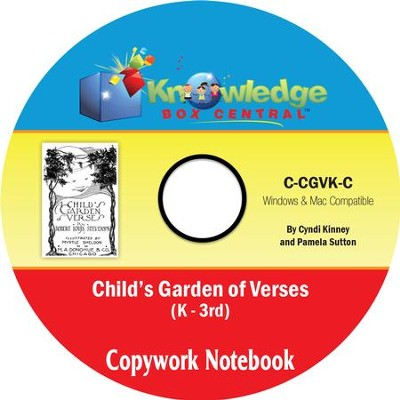 Child's Garden of Verses Copywork Notebook Grades K-3 PDF CD-ROM  -     By: Cyndi Kinney, Pamela Sutton