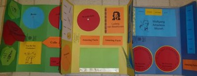 Classical Composer & Instruments Lapbook (Assembled)  -     By: Cyndi Kinney