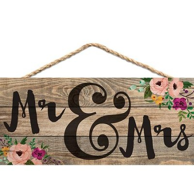 Mr. & Mrs., Hanging Sign  -