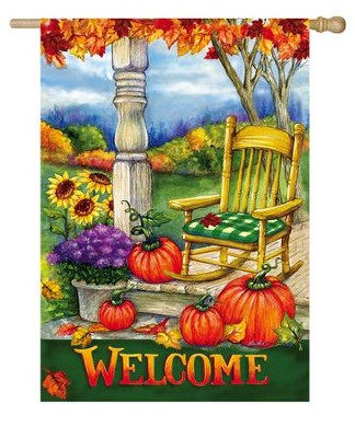 Welcome Porch Flag, Large  -     By: Ninette Parisi