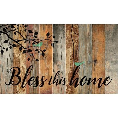 Bless This Home, Barn Board Wall Art  -