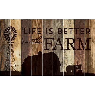 Life Is Better On the Farm, Barn Board Wall Art  -
