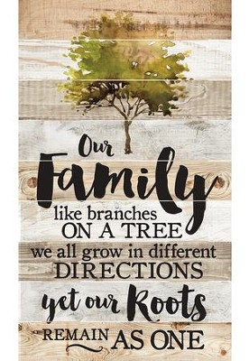Our Family Like Branches On A Tree Barn Board Wall Art