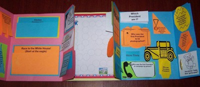 Presidential Election Games & Trivia Lapbook (Assembled)  -     By: Cyndi Kinney