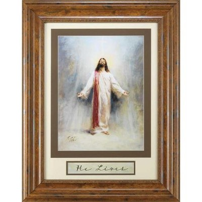 Jesus, He Lives, Framed Art  -