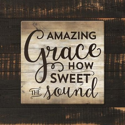 Amazing Grace, How Sweet the Sound Trivet, Large  -
