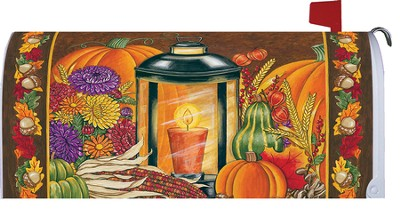 Fall Lantern Mailbox Cover  -     By: Deb Strain