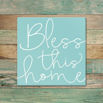 Bless This Home Trivet, Large  -