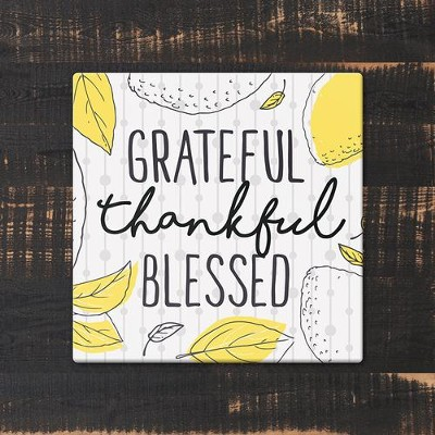 Grateful, Thankful Blessed Trivet, Large  -