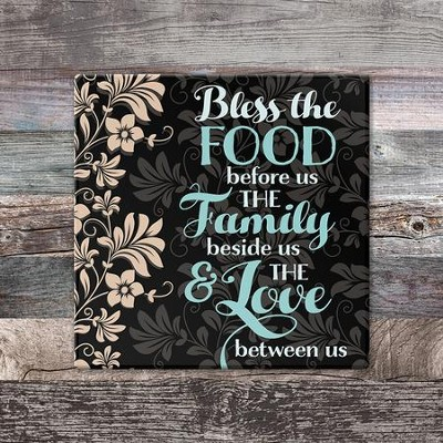 Bless the Food Before Us Trivet, Large  -