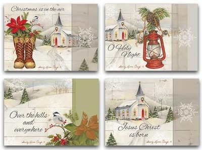 Good News, Assorted Christmas Cards, Box of 12  -     By: Sandy Clough