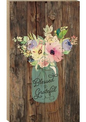 Blessed & Grateful, Pallet Wall Art  -