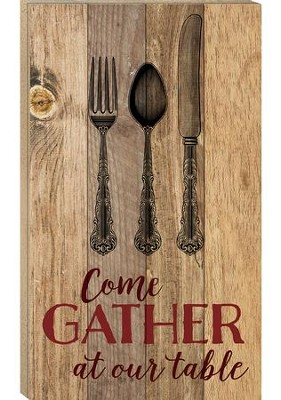 Come Gather At Our Table, Pallet Wall Art  -