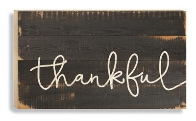 Thankful, Pallet Wall Art  -