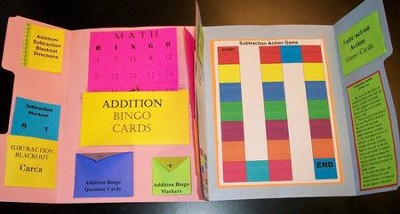 Addition & Subtraction Basic Facts Games Lapbook (Assembled)  -     By: Cyndi Kinney