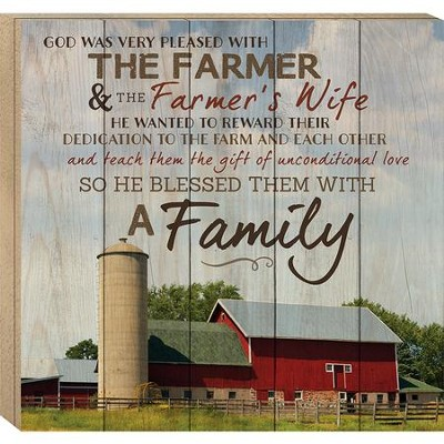 The Farmer and the Farmer's Wife, Boxed Plaque  -
