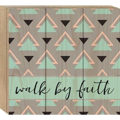 Walk By faith , Boxed Plaque  -