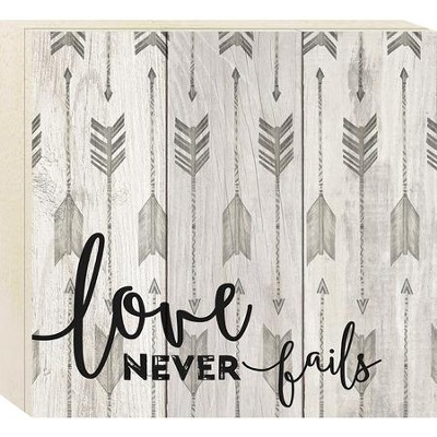Love Never Fails, Boxed Plaque  -