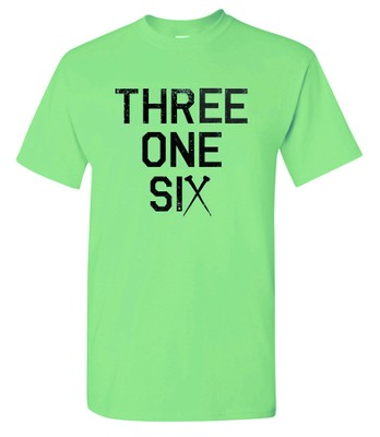 Three One Six Shirt, Green, Small  -