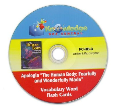 Apologia Human Body Vocabulary Word Flash Cards PDF CD-ROM  -     By: Cyndi Kinney, Judy Trout