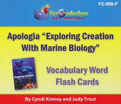 Apologia Exploring Creation With Marine Biology Vocabulary Word Flash Cards (Printed)  -     By: Cyndi Kinney, Judy Trout