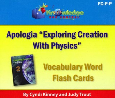 Apologia Exploring Creation With Physics Vocabulary Word Flash Cards (Printed)  -     By: Cyndi Kinney, Judy Trout