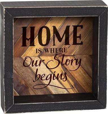 Home Is Where Our Story Begins Shadowbox  -