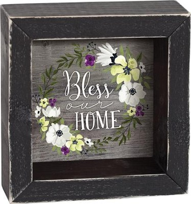 Bless Our Home Shadowbox  -