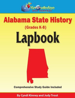 Alabama State History Lapbook (Printed)  -     By: Cyndi Kinney