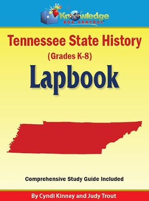 Tennessee State History Lapbook (Printed)  -     By: Cyndi Kinney