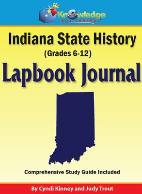 Indiana State History Lapbook Journal (Printed)  -     By: Cyndi Kinney