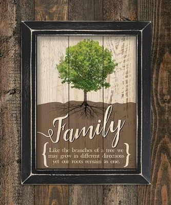 Family, Like Branches On A Tree, Pallet Framed Art  -