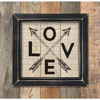 Love, Framed Pallet Art  -